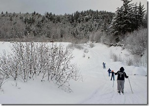 snowy ski trail