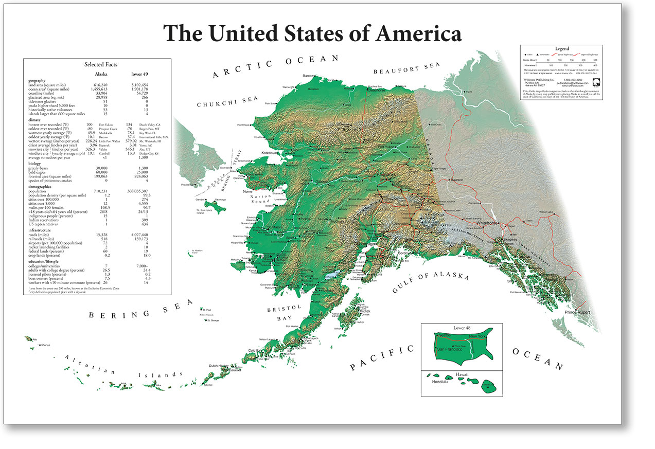 Alaska In The Us Map AK USA Map – williwaw.com