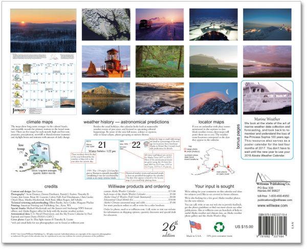 2018 Alaska Weather Calendar-62