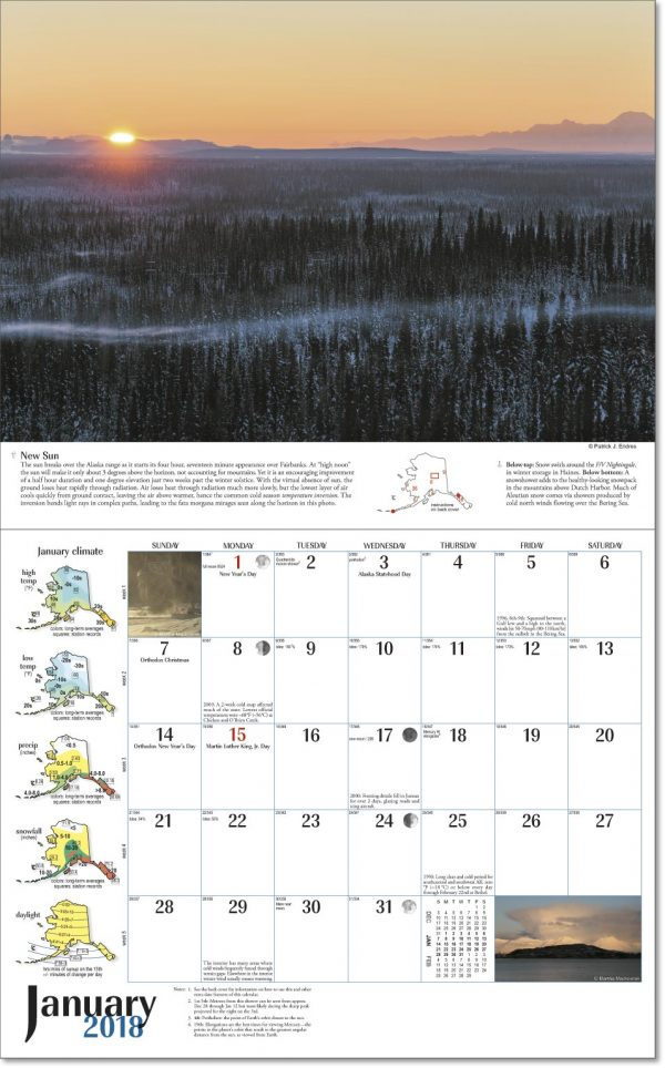 2018 Alaska Weather Calendar-63