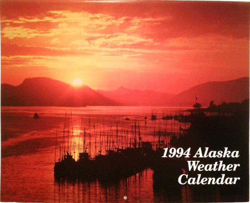 1994 Alaska Weather Calendar cover