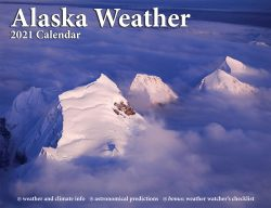 2021 Alaska Weather Calendar front cover